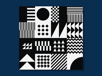 Seamless Geometric Pattern Bundle art black and white swiss neo geo square bundle block decor graphic design geometric designs monochrome bicolor perception background pattern paper shape geometric flat design