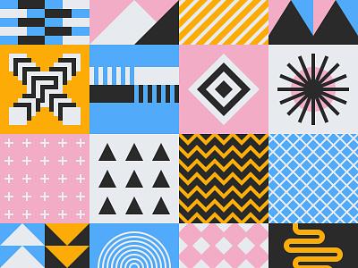 Seamless Geometric Pattern Bundle block tile mural geometry blanket carpet rug wrap swiss square minimal 2d shape pattern paper geometric flat design