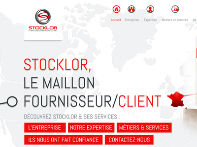 Logistic light clean red grey white abel map world webdesign