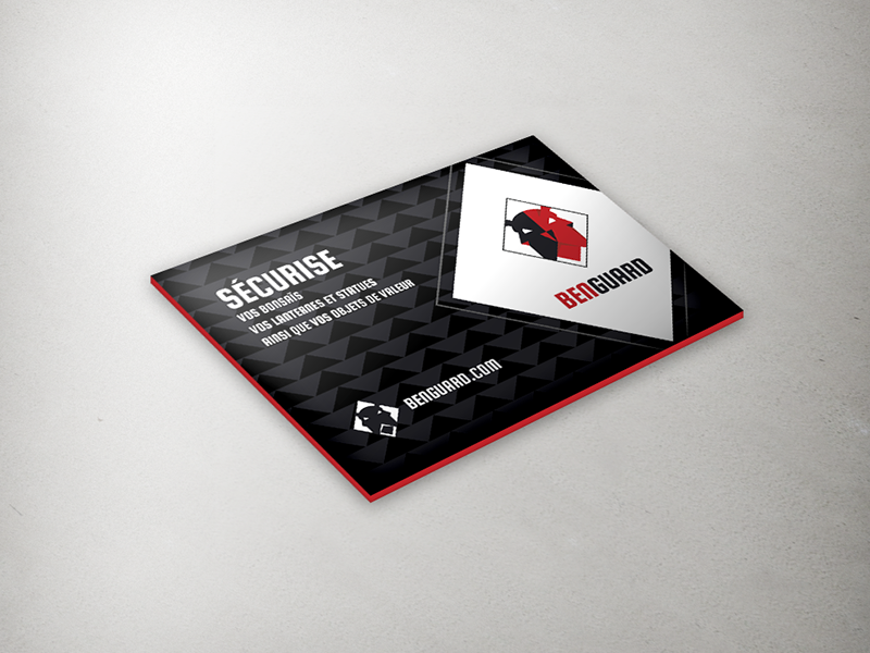 Business card business card squada one moo border color red black grey