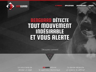 Website red black gradients buldog webdesign textured squada one