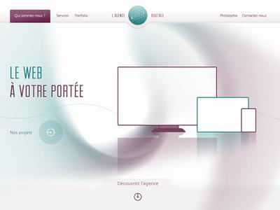Neotech website website arvil violet turquoise clean