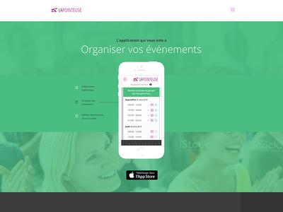 Checking tool event green grey open sans mobile application appli ios
