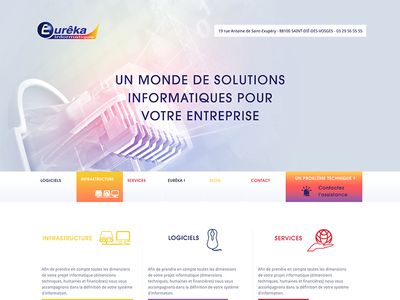 Eurêka! computer website webdesign