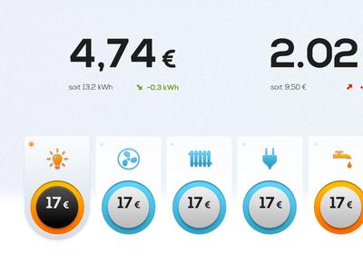 Energy  blue icons nexa energy