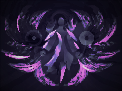 Hunger Born From Fear character hunger dark design abstract purple fear 2d illustration