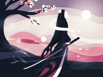 Peak poster graphic design cherry blossom sakura abstract design minimal 2d illustration