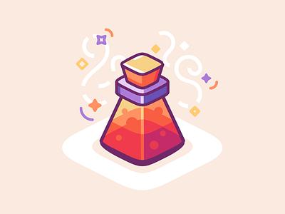 Alchemist's Vial lines minimal bottle magic icon illustration vial alchemy