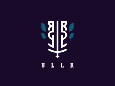 Ullr Logo Experiment branding vector minimal lines 2d illustration logo icon