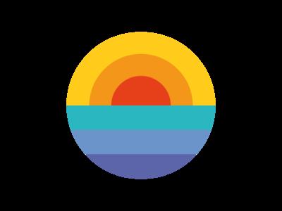 SUNSET sunset sea sun logo pattern minimalist geometry vector flat illustration illustrator design