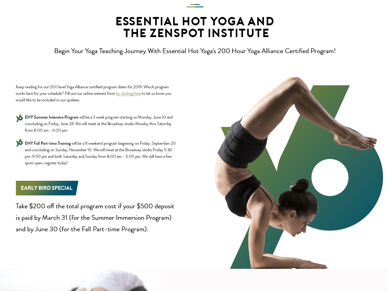 Yoga landing page design ui  ux website branding yoga