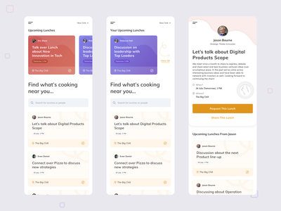Dribbble Shot LW4IP design light food events app mobile concept minimal cards uxdesign uidesign
