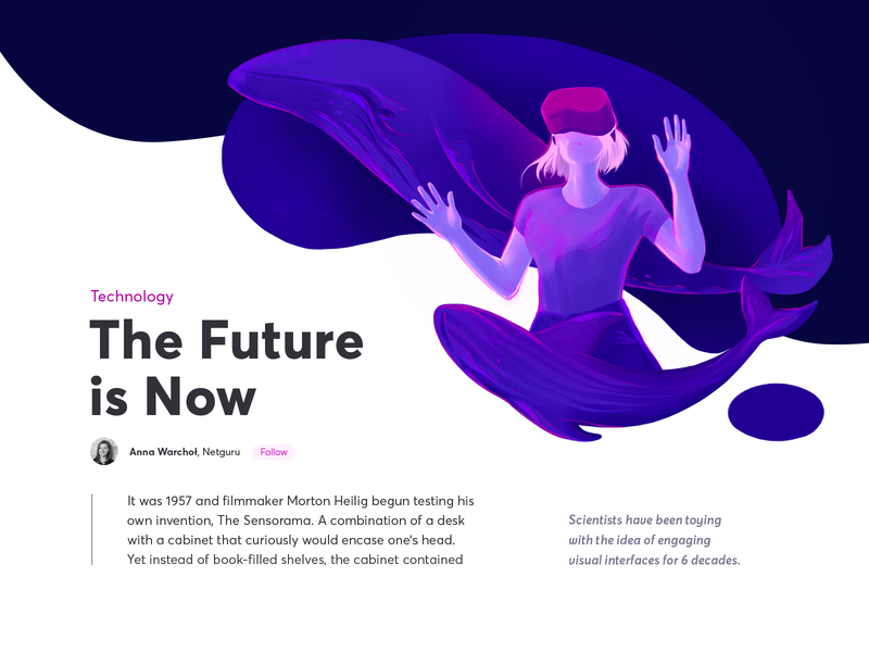 The Future Is Now science procreate oculus ui future whales technology vr blue violet illustration