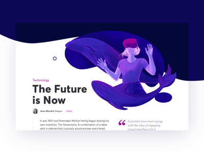 The Future Is Now ui parallax web landing page motion animation video illustration vr violet blue
