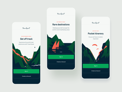 Travel Quest App - Onboarding Illustrations