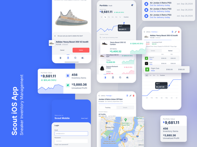 Scout iOS - Sneaker Inventory Management ux ui