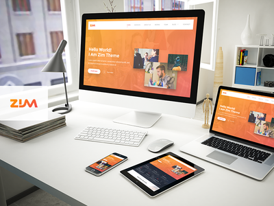 Zim - One Page Responsive HTML Template