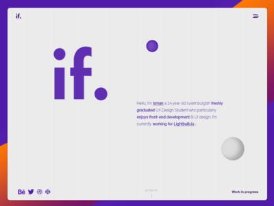 Portfolio Website Redesign design flat portfolio ui minimal web webdesign site website