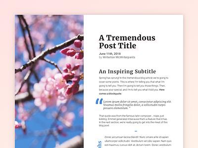 Typeset This Post design codepenchallenge typesetting typeset blog article