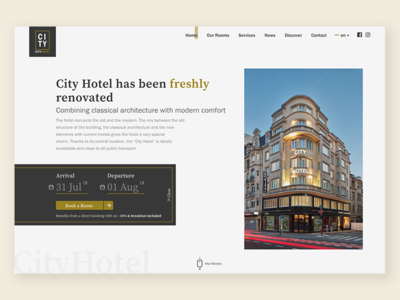 City Hotel   Homepage ui web website landing reservation booking hotel