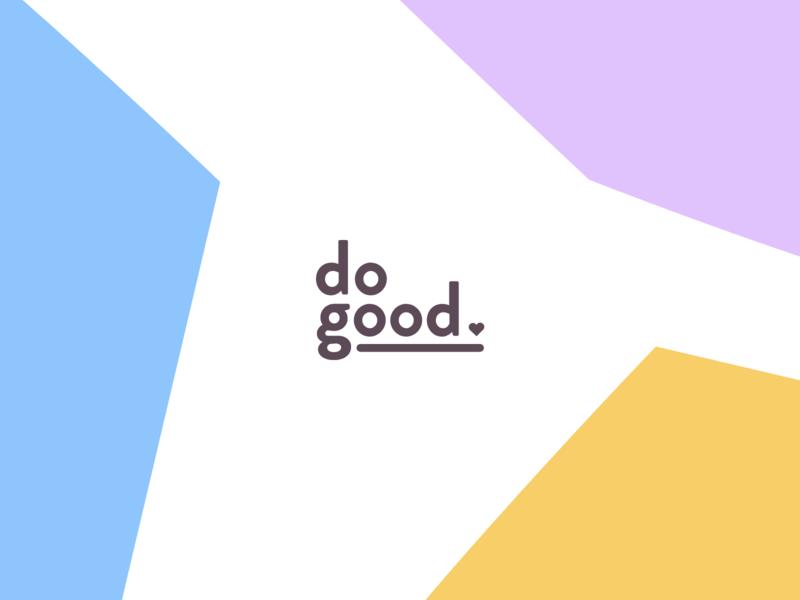 dogood Logo pastel dogood logotype logo font identity branding
