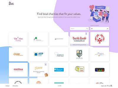 dogood Website dogood philanthropy library ui website web design web help people landing homepage donate charity