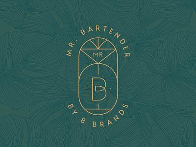 Mr. Bartender Branding logodesign logotype bar bartender artist artdeco minimal typography design branding logo