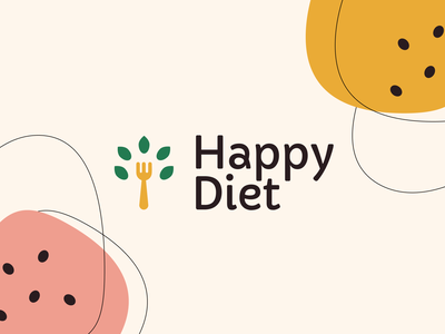 Happy Diet Logotype minimal graphic design meal food catering foodcatering food illustration vector logotype logodesign logo design branding catering