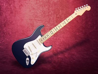 Fender Stratocaster strat stratocaster gutar instrument electro for fun icon music illustration full vector fender