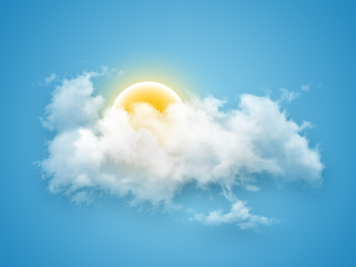 Icon for weather app [WIP] sun clouds icons weather illustration blue wip icon vector