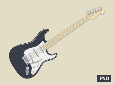 Strat) guitar rebound instrument psd vector fender illustration electro free rock for fun stratocaster