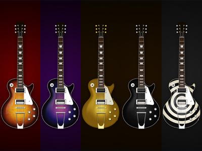 Gibson Les Paul gibson texture purple les paul guitar vector illustration icon sunburst
