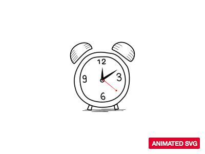 Animated SVG icon alarm animated clock svg icon flatme