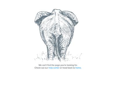 404 error page 404 error elephant illustration