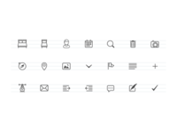 Simple outline icons icons outline small