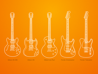 Iconic guitars guitars guitar icons sketch strat pixel-perfect