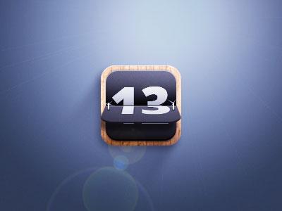 Countdown countdown icon fun wood texture calendar