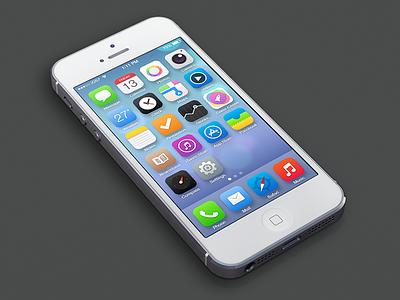 iOS 7 Redesign ios icon app iphone ios7 7 redesign ui interface