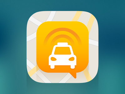 Taxi App Icon flat icon ios app taxi