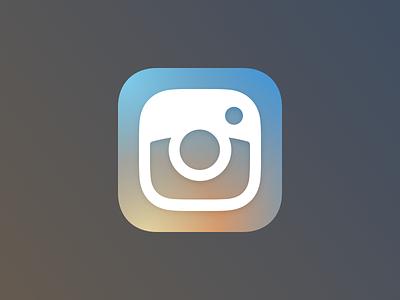 Instagram Icon sketchapp sketch glyph redesign app icon instagram