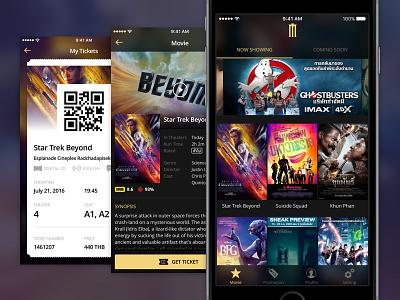 Major Movie Plus App - Redesign ui sketchapp sketch iphone ios app ticket cinema movie