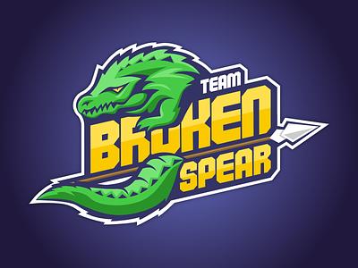 eSports Team Logo - Broken Spear Team affinity logo animal crocodile esports team