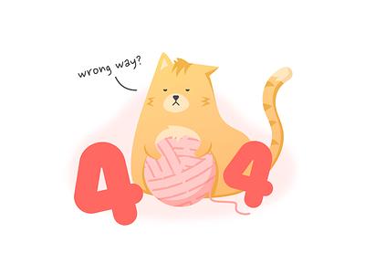 404 Cat yarn ball cat error 404