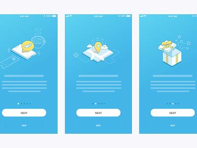 App Walkthroughs ui illustration sketchapp app icon ios