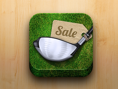 Golf Market App Icon golf ios icon grass app green
