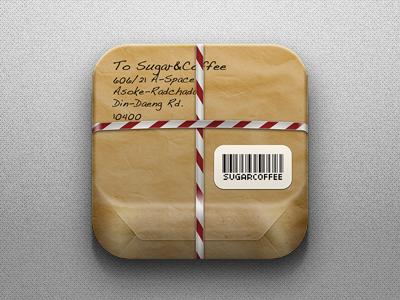 Carton Box Icon postage icon ios app box carton parcel