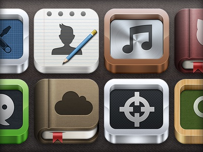 3D iOS Icon Generator ios icon app generator iphone ipad 3d book paper psd