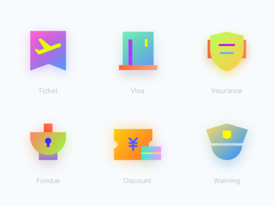 icon warning discount fondue insurance visa ticket logo ui clean project color icon