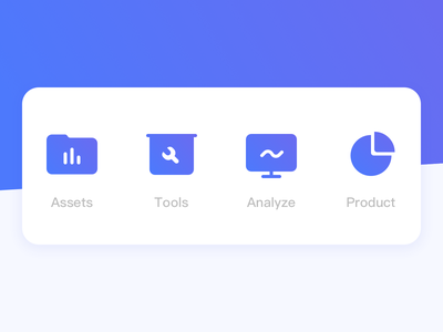 ICON product analyze tools assets design ui icon