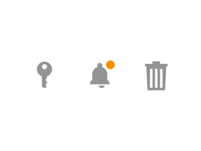 User zone icons trash notification login icon icons geometry vector ui